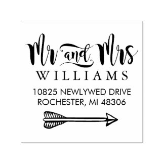 Married Monogram | Return Address Self-inking Stamp