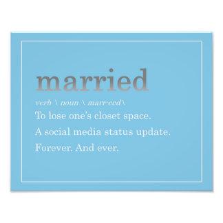 Married Photo Print