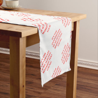 MARRIED SHORT TABLE RUNNER