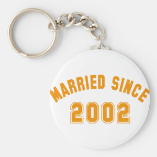 married since 2002 keychain