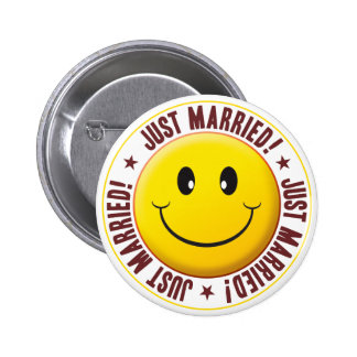 Married Smiley 2 Inch Round Button