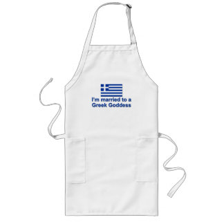 Married to a Greek Goddess Long Apron