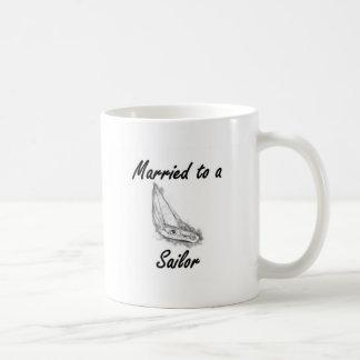 Married to a sailor coffee mug