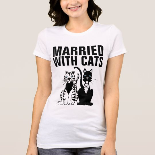 MARRIED WITH CATS, Funny Cat T-shirts