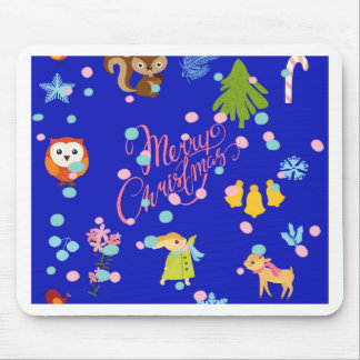Marry Carte de voeux pattern blue Tapis De Souris