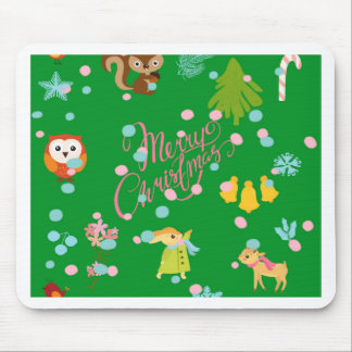 Marry Carte de voeux pattern green Tapis De Souris