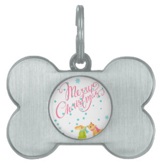 Marry Christmas Pet ID Tag