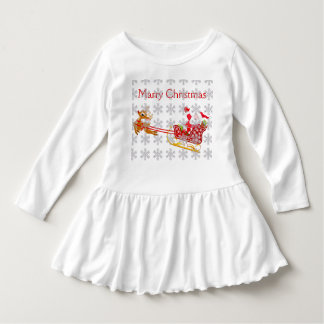 Marry Christmas Toddler Ruffle Dress