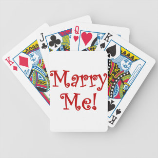 Marry Me! Bicycle Playing Cards