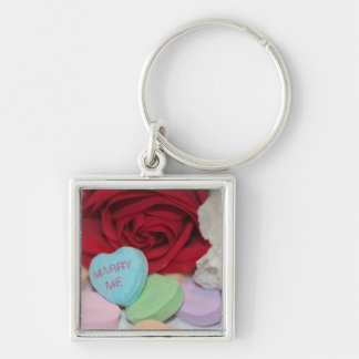 """""""Marry Me"""" Candy Heart Key Chain"""