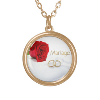 Marry me gold plated necklace