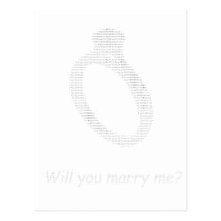 Marry me in ascii art postcard
