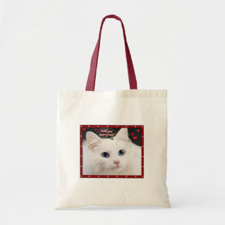 Marry Me Kitty on a small tote bag