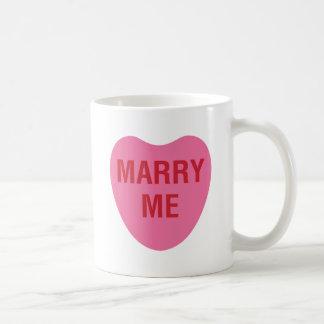 MARRY ME PINK COFFEE MUG