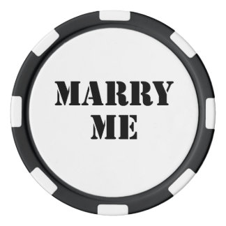 Marry Me Poker Chips