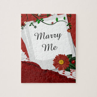 Marry Me Red Rose Puzzle