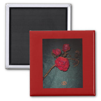 Marry Me...Rose Square Magnet