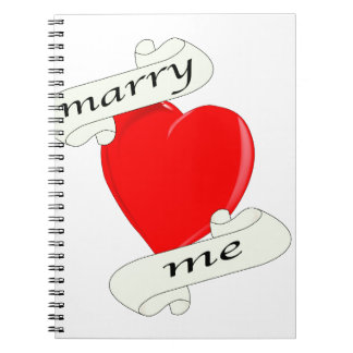 Marry Me Spiral Notebooks