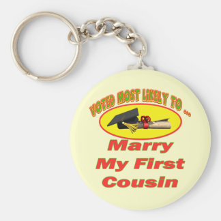 Marry My Cousin Keychain