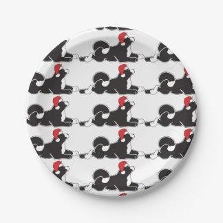 MARS Akita Christmas Paper Plates
