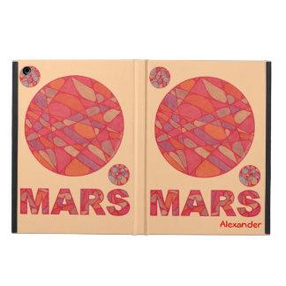 Mars Art Geeky Fun iPad Air Cover Personalized