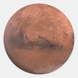 Mars Classic Round Sticker