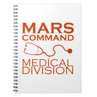 Mars Command Medical Division Spiral Notebook