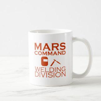 Mars Command Welding Division Classic White Coffee Mug