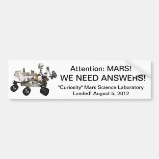 "Mars ""Curiosity"" Bumper Sticker"