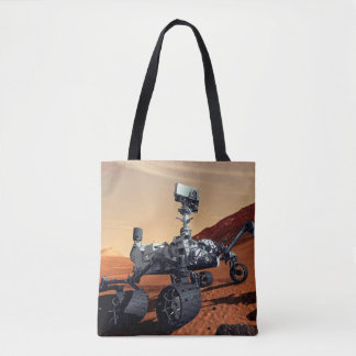 Mars Curiosity Rover Tote Bag