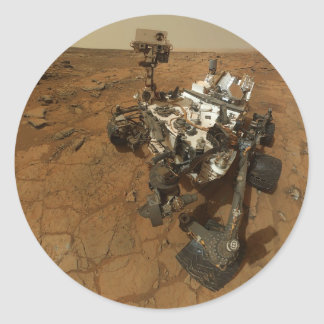 Mars Curiosity Self Portrait Classic Round Sticker