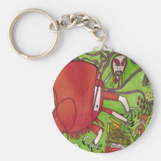 Mars Dinosaur Basic Round Button Keychain