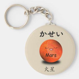 Mars emoji keychain