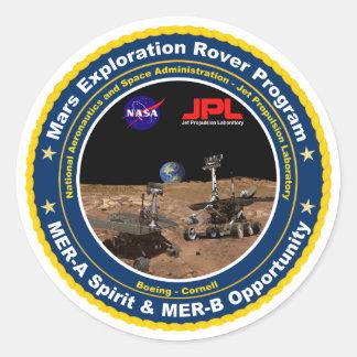Mars Exploration Rovers: Spirit & Opportunity Round Sticker