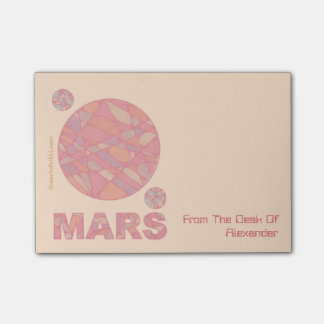Mars Geek The Red Planet Personalized Notes Post-It Notes