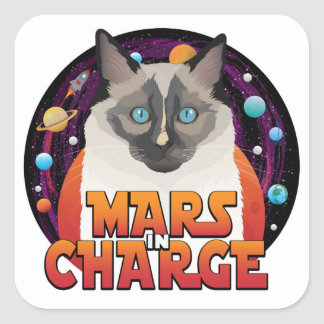 Mars in Charge stickers