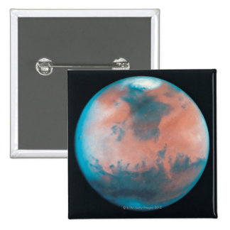Mars in Opposition 2 Inch Square Button