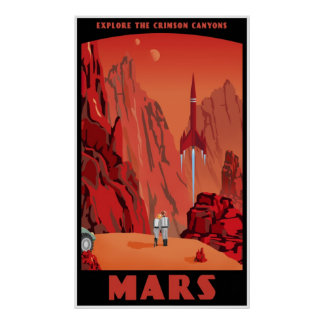 Mars: large version poster