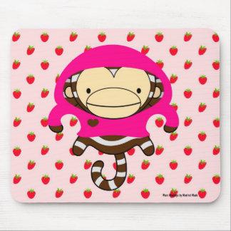 Mars Monkey Strawberries Mousepad - LULU