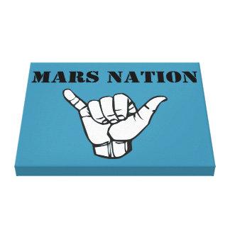 Mars Nation army Canvas Print