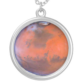 Mars Necklace. Silver Plated Necklace