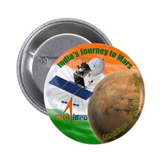 Mars Orbiter Mission: ISRO 2 Inch Round Button