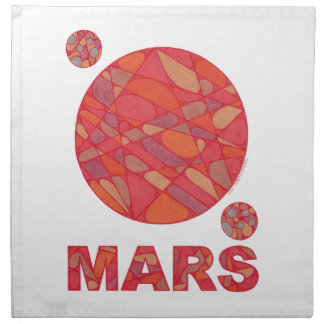 Mars Red Planet Holiday Party Napkin