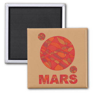 Mars Red Planet Love Magnet