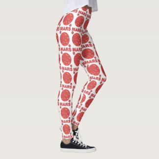 Mars Red Planet Space Geek Space Theme Fashion Leggings
