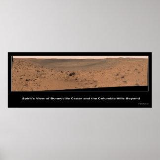Mars Rover Spirit's Destination:  Columbia Hills Poster