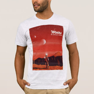 Mars Science fiction vintage travel poster T-Shirt