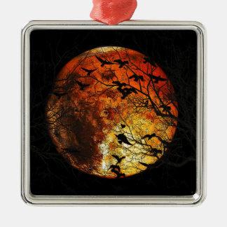 Mars Silver-Colored Square Ornament