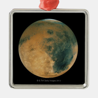 Mars Silver-Colored Square Ornament
