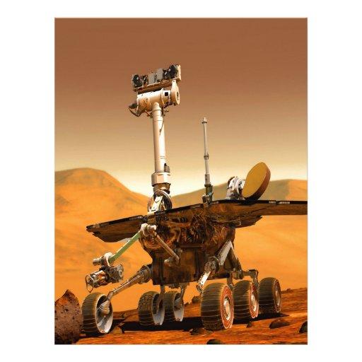 mars space travel Rover Robot Custom Letterhead